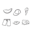 sketches of various objects vector image vector image