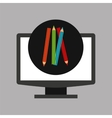 online education technology drawing colors vector image