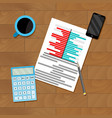 research finance chart vector image