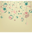 Background with Christmas balls EPS 8 vector image vector image