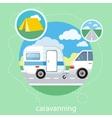 Caravaning tourism vector image