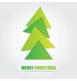 The simple geometric triangle form Christmas tree vector image