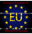 European Freedom vector image vector image