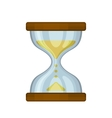Hourglass Sand Clock on White Background vector image