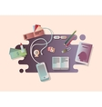 Set things on the table vector image vector image