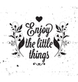 Grunge vintage poster with floral elements vector image