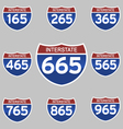 INTERSTATE SIGNS 165-965 vector image