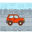 4WD car in the city vector image vector image