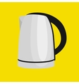 White tee kettle isolated cooking equipment and vector image