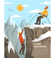 Extreme Mountaineering vector image