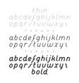 Cursive Small Case Font vector image