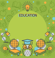 Education Linear Icons Frame vector image