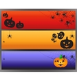 Halloween banners with spider and spiderweb vector image