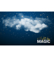 Magic Christmas Cloud Shining Stars Night sky vector image