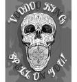 screaming skull vector image