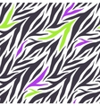 Seamless texture of crazy zebra stripes vector image