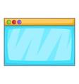 Browser window icon cartoon style vector image