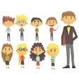 Elementary School Group Of Schoolchildren With vector image