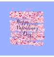 Valentines Day greeting on red hearts background vector image vector image