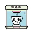 kawaii cute angry coffee maker technology vector image