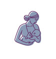 breastfeeding mother and baby logo vector image