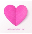 Pink textured folded heart vector image vector image