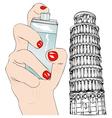Perfume of Pisa vector image