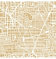 Seamless map city plan vector image