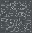 abstract speech bubbles collection vector image