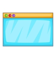 Browser window icon cartoon style vector image