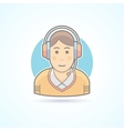Call center operator icon Avatar and person vector image