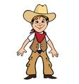 cowboy kid vector image