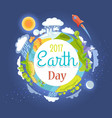 earth day 2017 promotional poster vector image