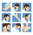Muslim ablution purification guide Step by step vector image