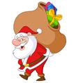santa with sack vector image
