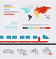 transportation infographic flat design modern vector image