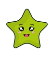 star kawaii cartoon vector image
