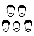 Hipster hair beards mustaches vector image