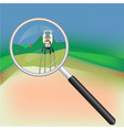 geodesy and magnifier vector image