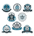 nautical and marine icons set vector image
