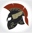 spartan warrior helmet vector image
