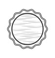 round stamp label vector image