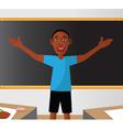 teacher classroom student vector image vector image