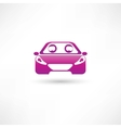 Colored front car vector image