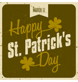 vintage style st patricks day greeting card design vector image vector image
