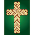twisted Christian Holy cross vector image