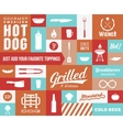 Hot Dog Icon and Typography Set Vintage vector image vector image