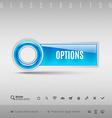 Blue Plastic Button vector image