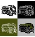 car off-road 4x4 suv trophy truck vector image vector image