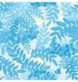 seamless pattern Rowanberries background vector image